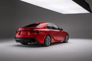 2022 Lexus IS 500 F Sport Performance - rear 3-4 in studio