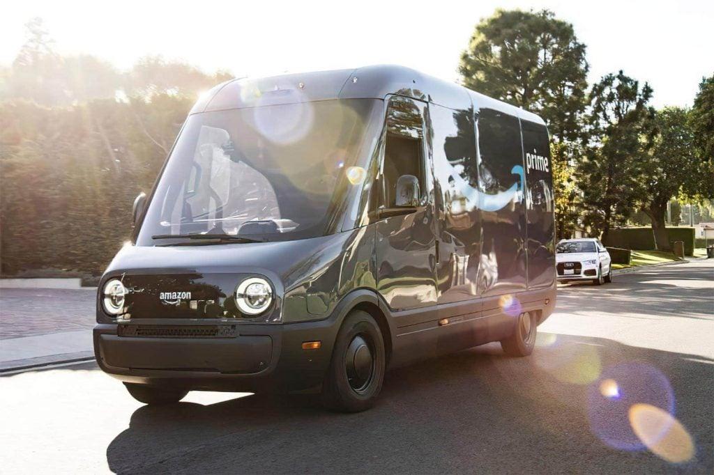 Amazon Rivian electric delivery van