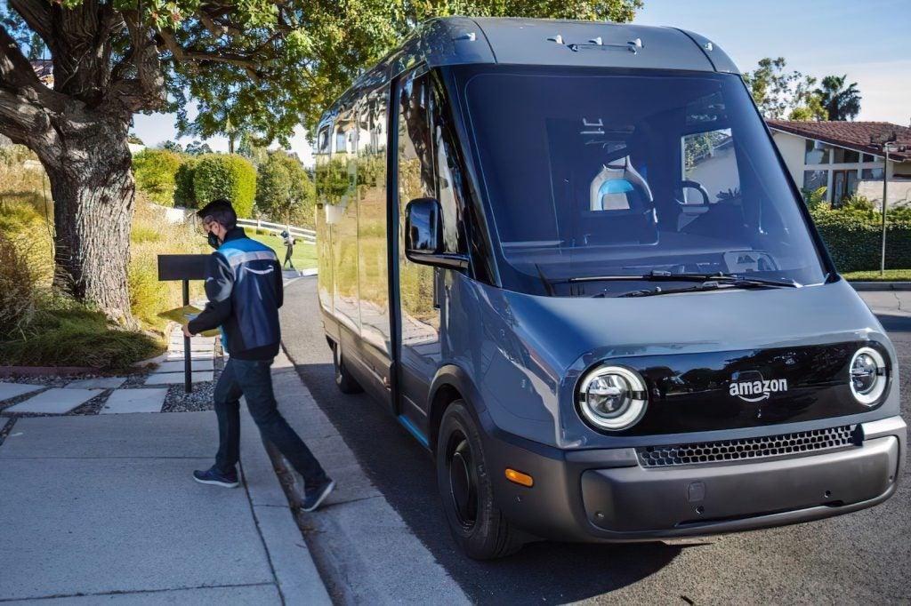 Rivian delivery van for Amazon