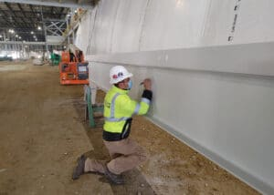 GM Ultium ironworker signs beam