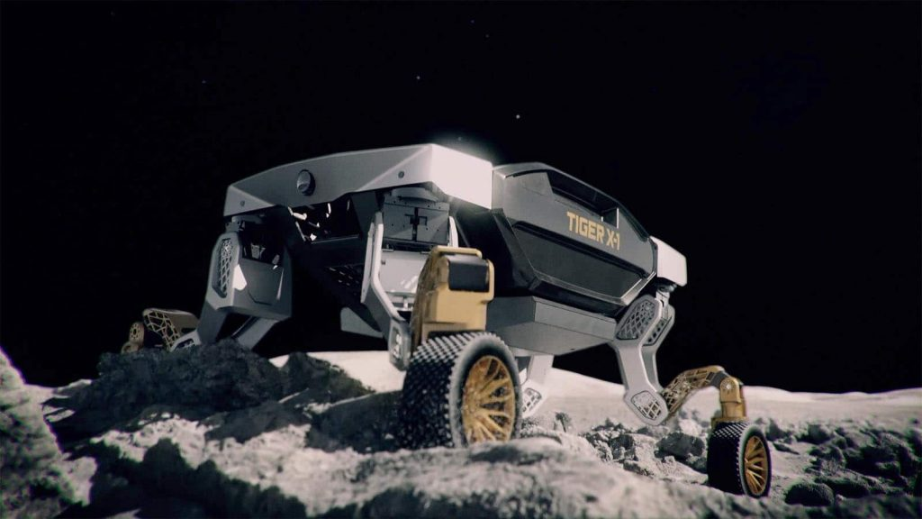 Hyundai TIGER X-1 on the moon
