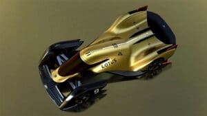 Lotus E-R9 race car - overhead