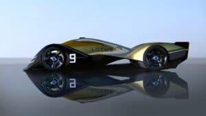 Lotus E-R9 race car - side