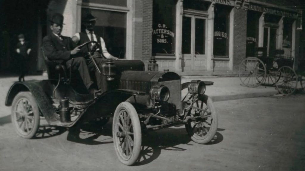 C.R. Patterson shop and car