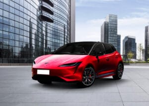 Tesla small car rendering front