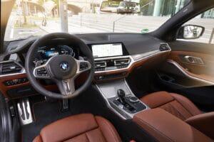 2021 BMW 330e interior