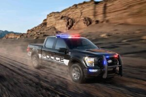 2021 Ford F-150 police unit driving