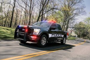 2021 Ford F-150 police unit front