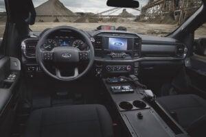 2021 Ford F-150 police unit interior
