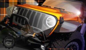 2021 Jeep Moab concept rendering orange