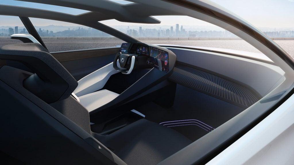 2021 Lexus LF-Z concept cockpit