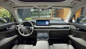 2021 Lincoln Nautilus flight blue interior