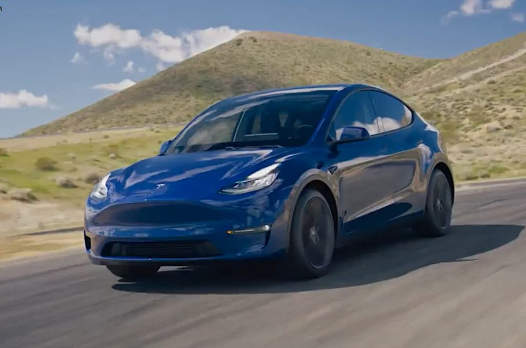 2021 Tesla Model Y blue