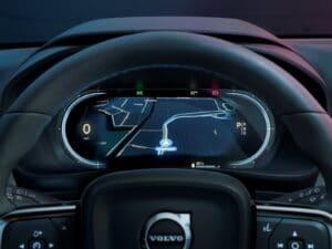 2022 Volvo C40 Recharge gauges