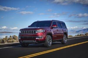 2022 Jeep Wagoneer driving