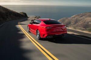 2022 Kia Stinger GT red rear