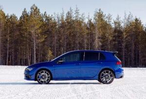 2022 VW Golf R winter side