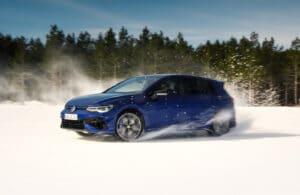 2022 VW Golf R winter spray