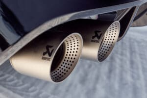 2022 VW Golf R winter tailpipes