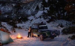 Canoo pickup truck camping