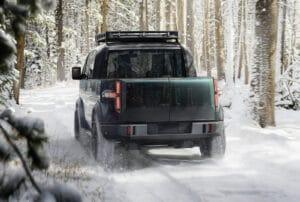 Canoo pickup truck rear