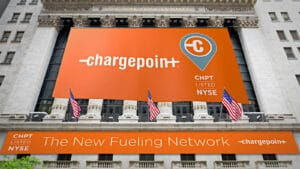 ChargePoint NYSE opening