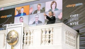 ChargePoint's Romano at NYSE bell ringing