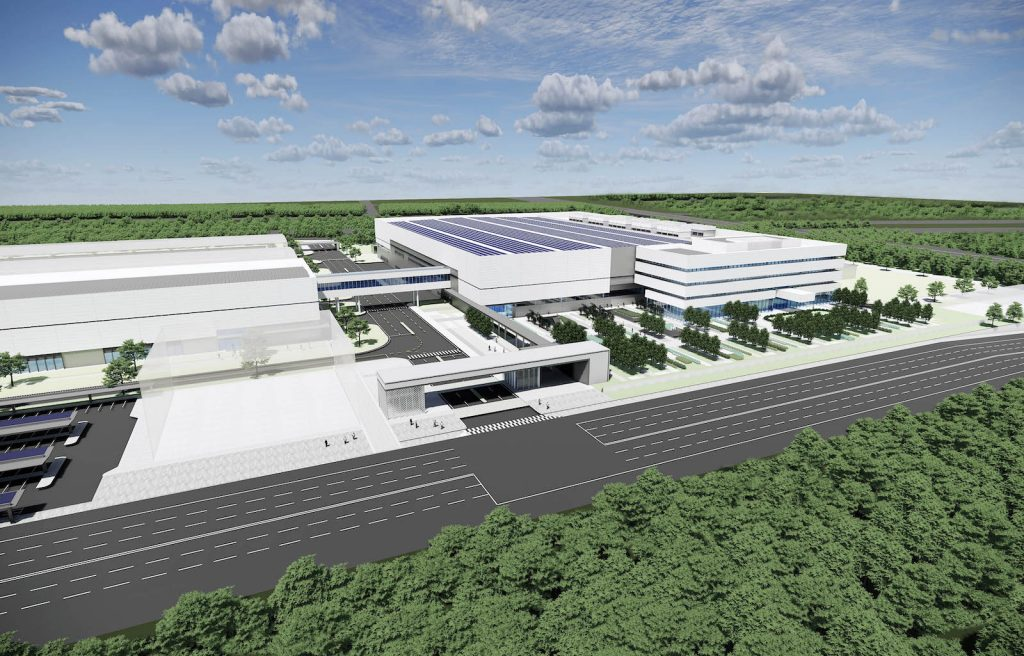 Hyundai fuel cell plant rendering in China