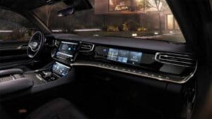 Jeep Grand Wagoneer Concept - passenger screen
