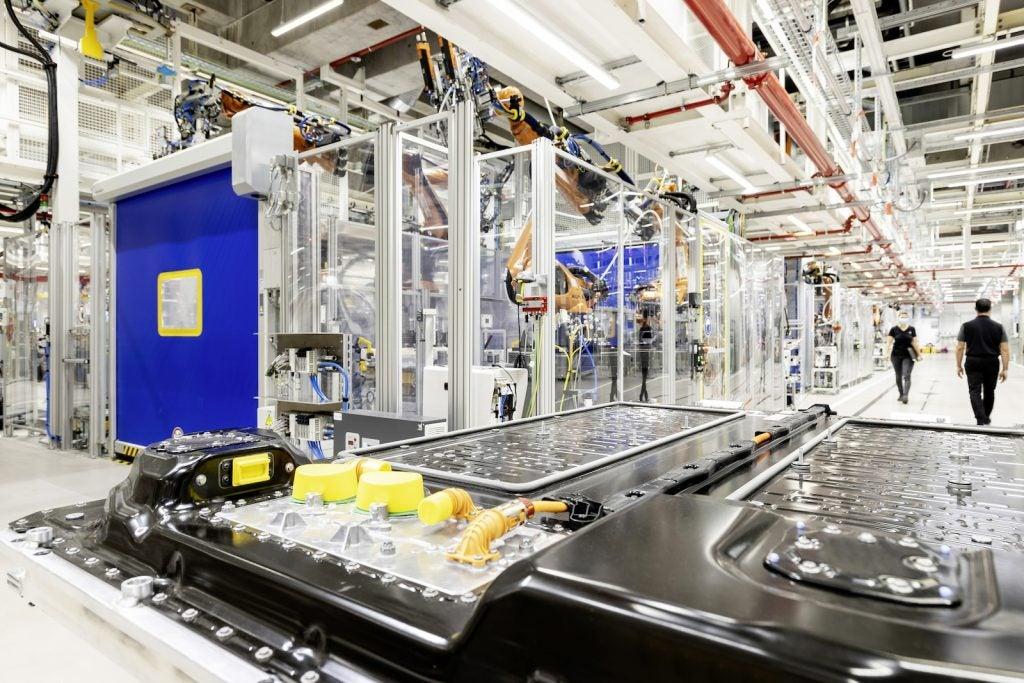Mercedes EV battery plant line