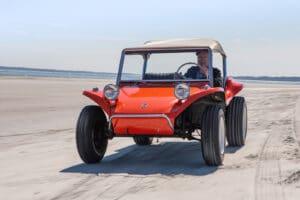 Meyers drives Manx on beach