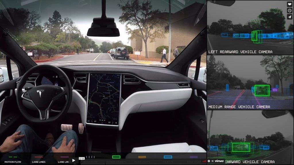Tesla Autopilot view