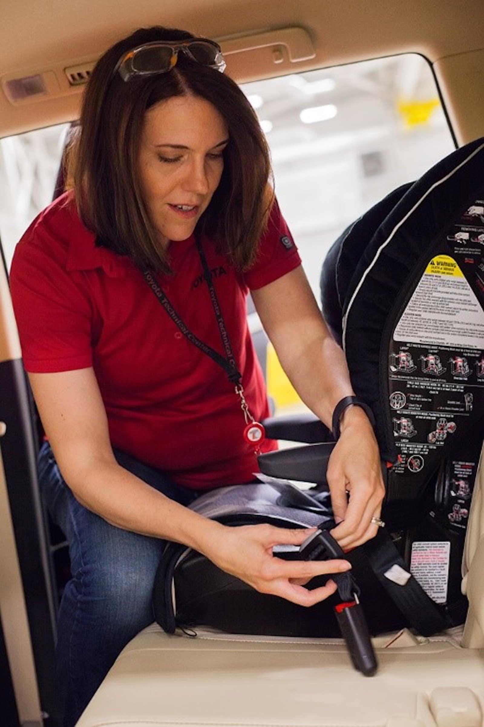 Toyota engineer Jennifer Pelky car seat