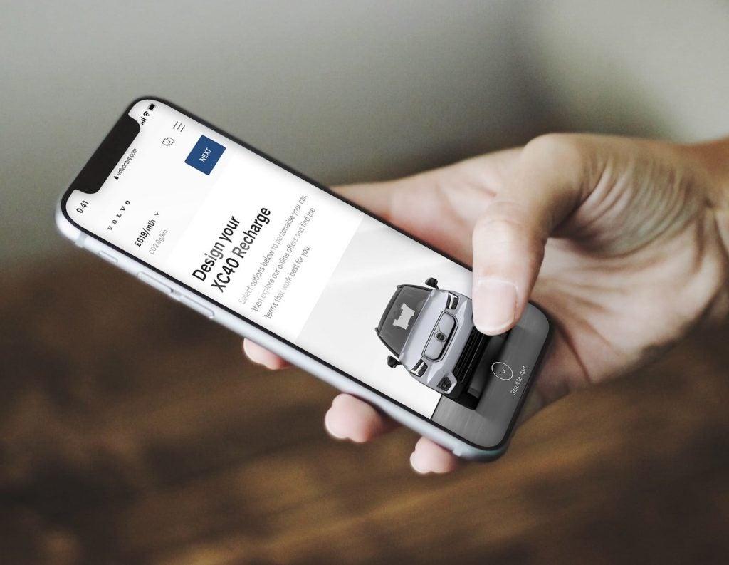 Volvo online buying app