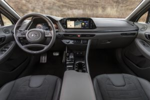 2021 Hyundai Sonata N Line silver interior