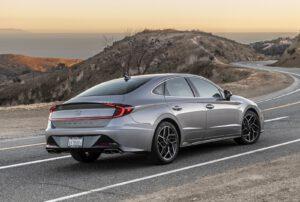 2021 Hyundai Sonata N Line silver rear