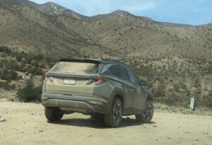 2022 Hyundai Tucson hybrid dusty rear