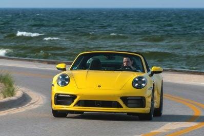 2021 Porsche 911 Targa 4S front