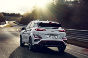 2022 Hyundai Kona N rear driving