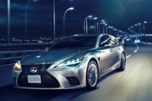 2022 Lexus LS 500h driving