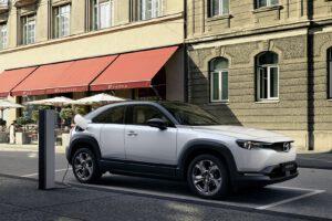 2022 Mazda MX-30 EV charging