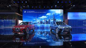 BMW iX pair at Shanghai 2021