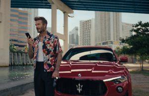 Beckham and Maserati Levante