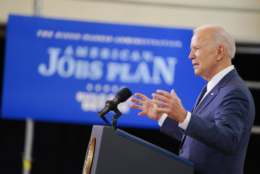 Biden and Jobs Plan sign