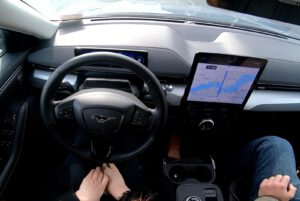 BlueCruise Mustang Mach-E driving