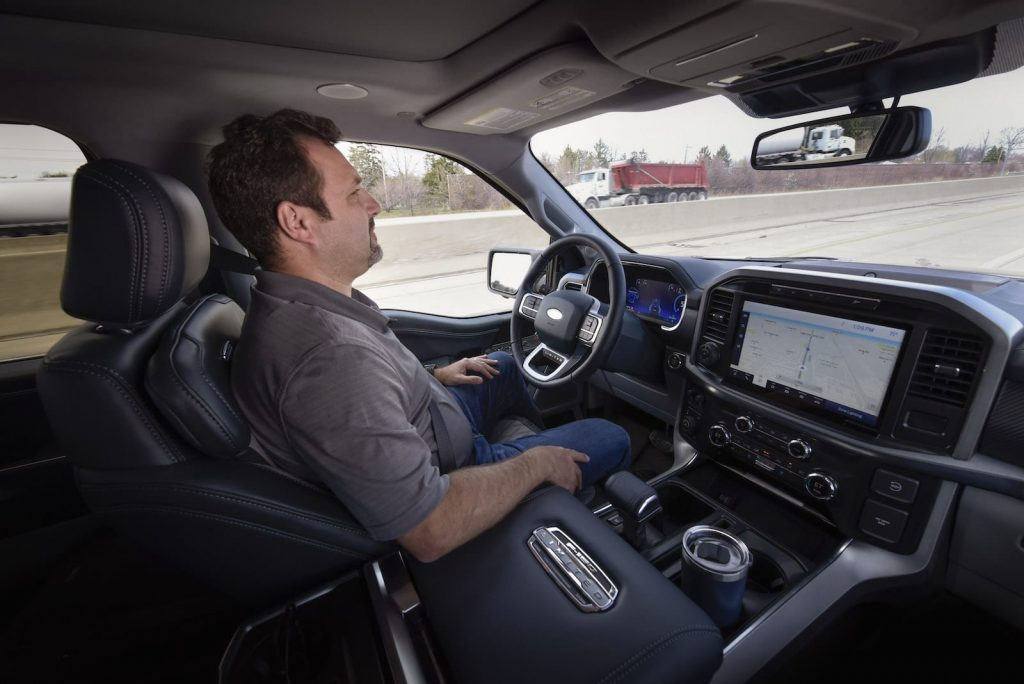 Ford BlueCruise in F-150 driving