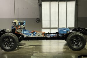 Jeep Wrangler 4xe hybrid chassis