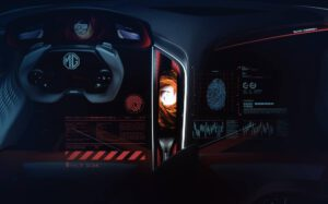 MG Cyberster concept dashboard