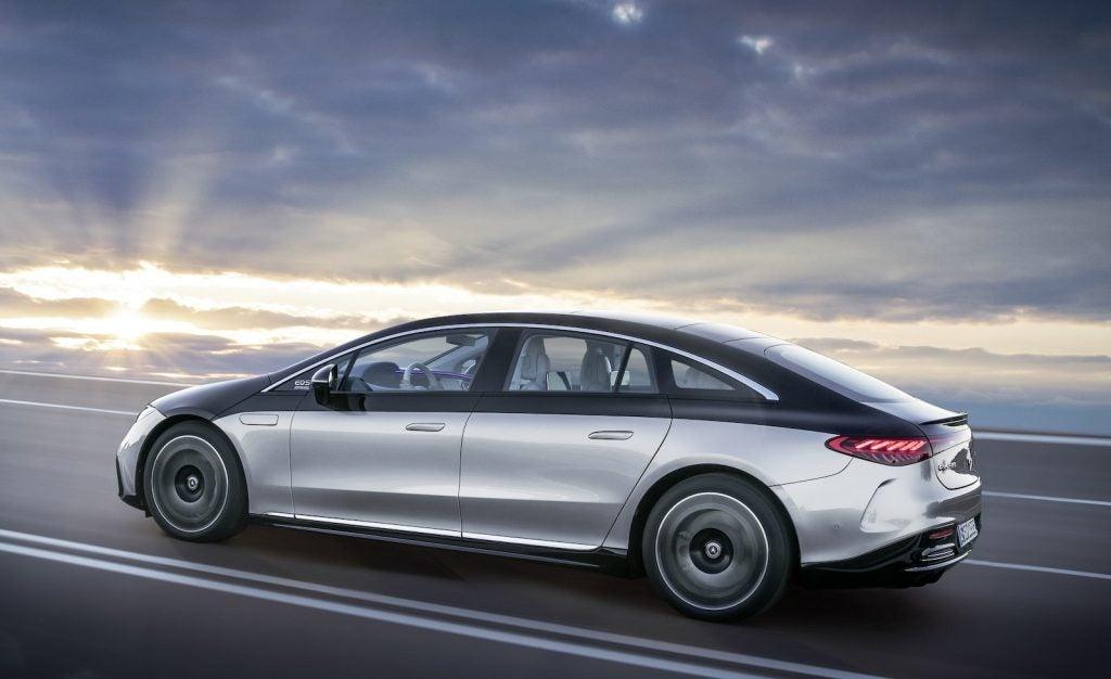 Mercedes EQS driving side