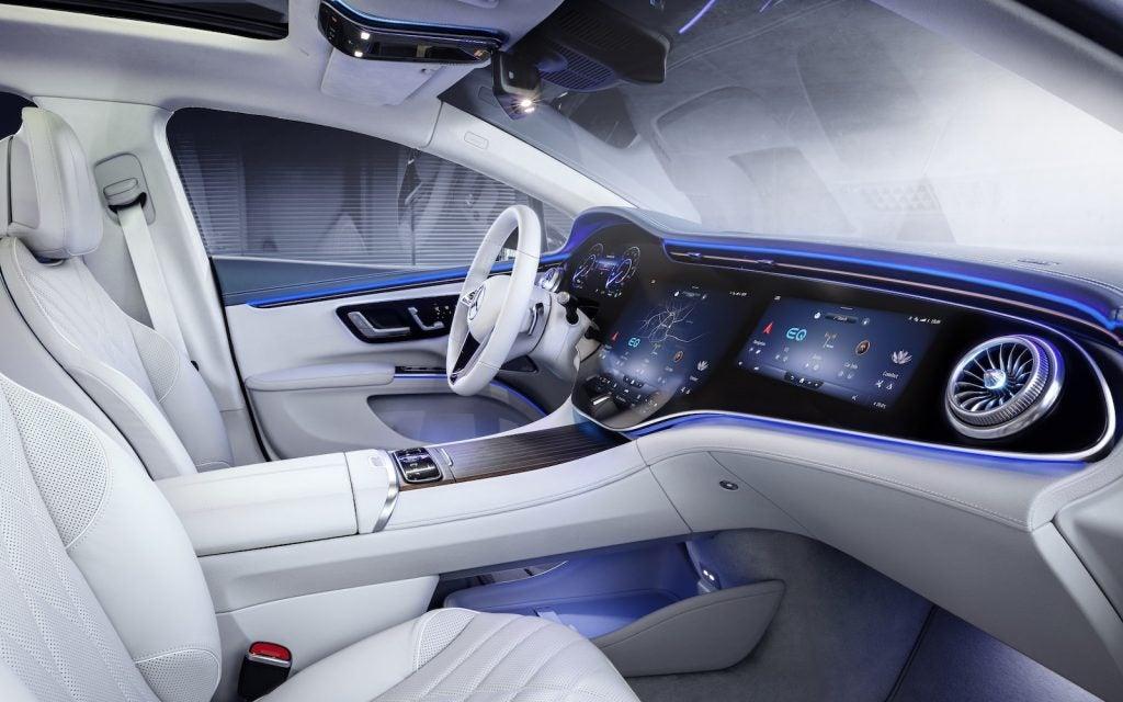 Mercedes EQS front seats
